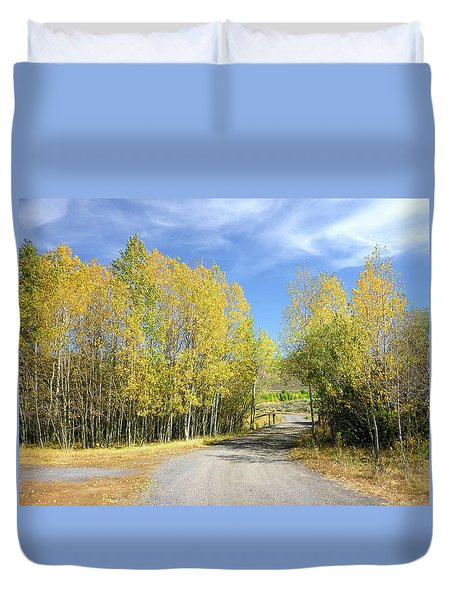 Duvet Cover featuring the photograph Aspen Delight by Anne Mott