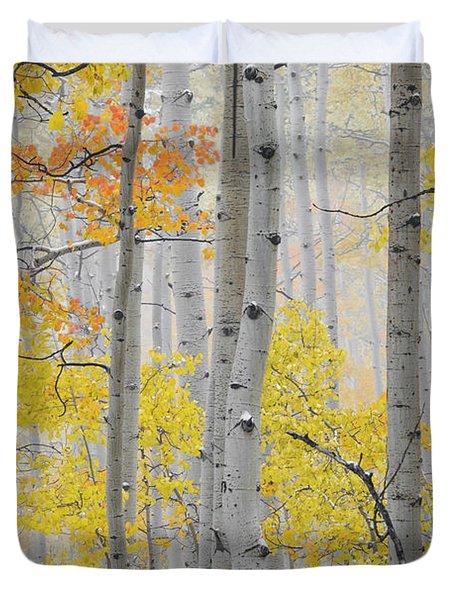 Aspen Forest Texture Duvet Cover