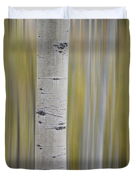 Duvet Cover featuring the photograph Aspen by Gary Lengyel
