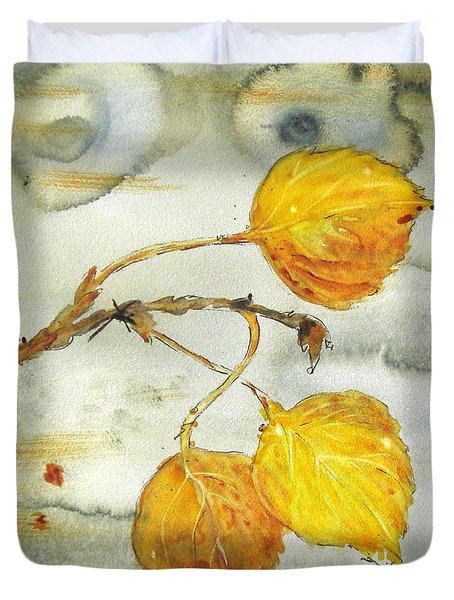 Aspen Leaves Duvet Cover