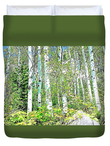 Aspen Splender Steamboat Springs Duvet Cover by Joseph Hendrix