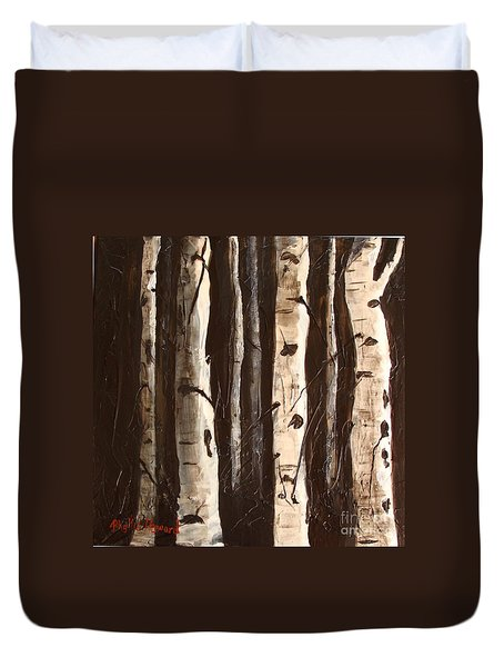 Aspen Stand Duvet Cover by Phyllis Howard
