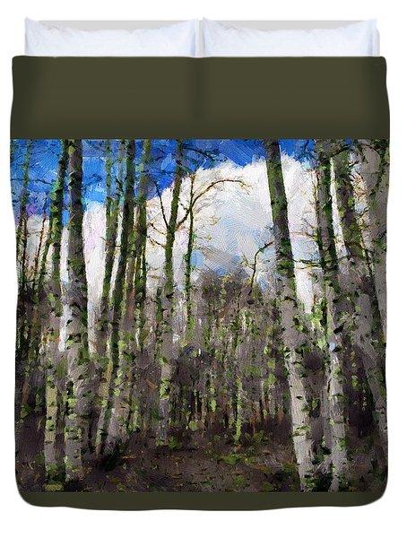 Aspen Standing Duvet Cover by Jeff Kolker
