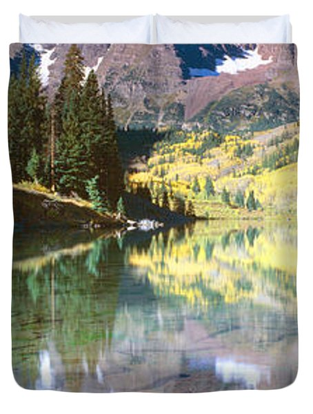 Aspens And Morning Light, Maroon Bells Duvet Cover