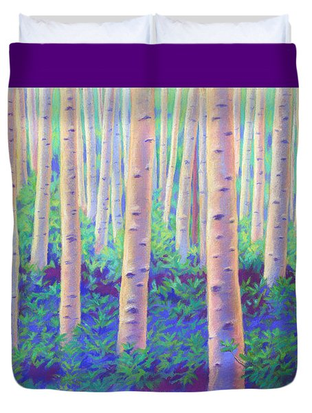 Aspens In Aspen Duvet Cover