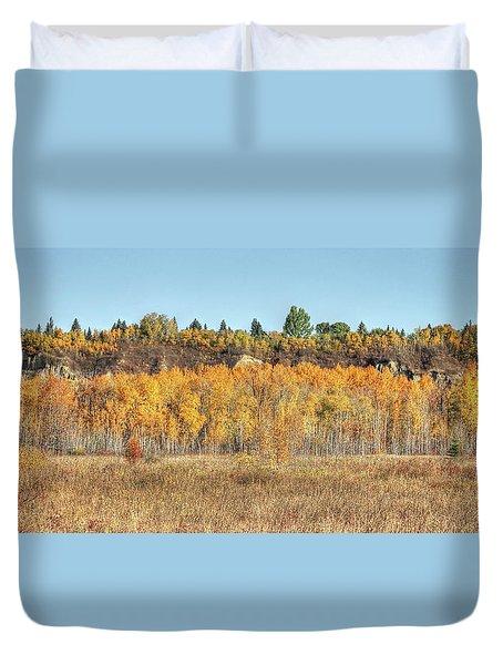 Aspens In Autumn Duvet Cover