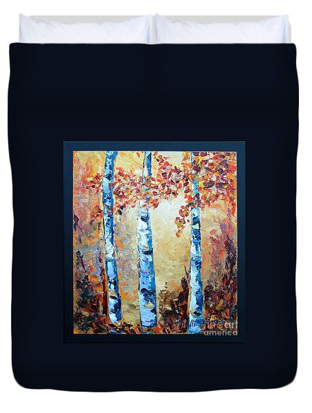 Aspens In Glow Duvet Cover