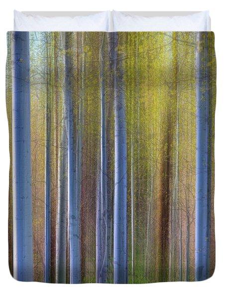 Aspens In Springtime Duvet Cover