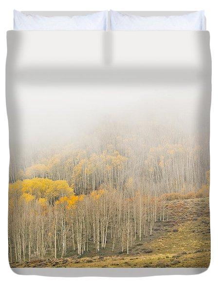 Aspens In The Clouds Duvet Cover