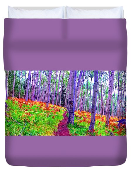 Aspens In Wonderland Duvet Cover