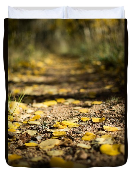 Aspen Leaves On Trail Duvet Cover