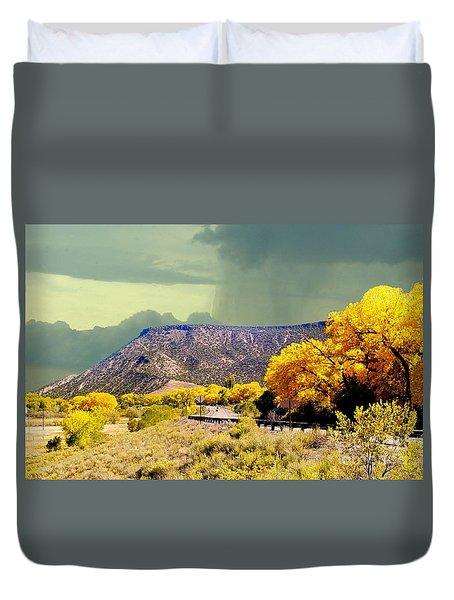 Aspens Near Durango Colorado In October Duvet Cover