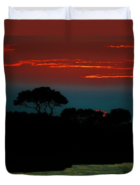 Assateague Dusk Duvet Cover by William Bartholomew