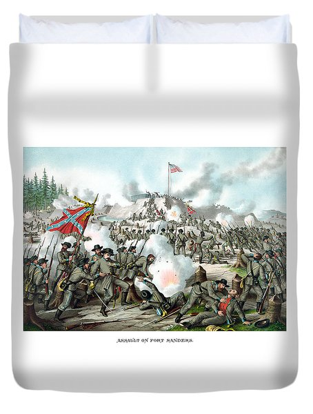 Assault On Fort Sanders Duvet Cover by War Is Hell Store