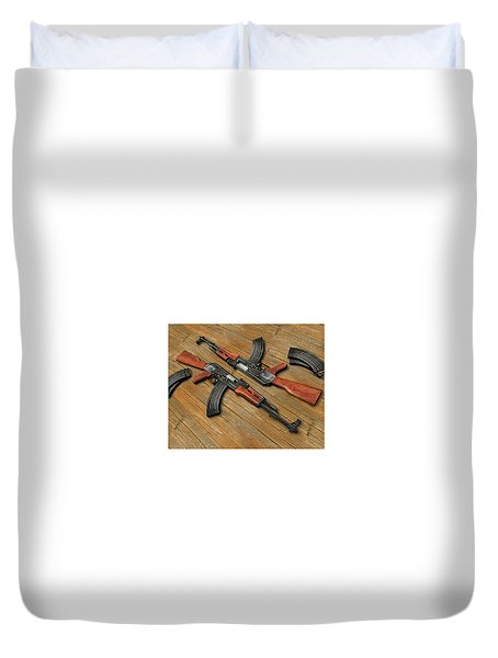 Assault Rifle Duvet Cover