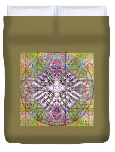 Assent From The Womb In The Flower Tree Of Life Duvet Cover