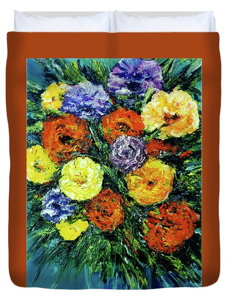 Assorted Flowers #191 Duvet Cover by Donald k Hall