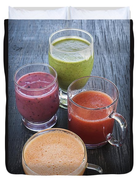 Assorted Smoothies Duvet Cover