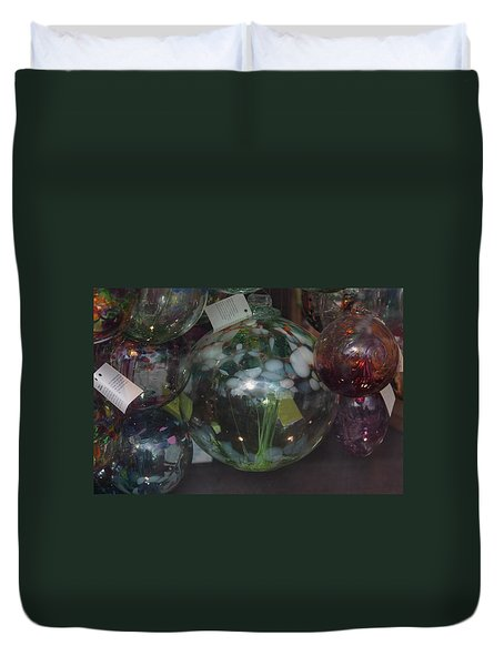 Assorted Witching Balls Duvet Cover by Suzanne Gaff