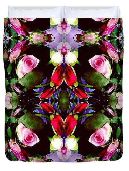 Assortment Of Flower  Duvet Cover