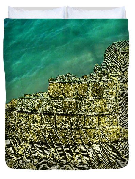 Assyrian Warship Duvet Cover