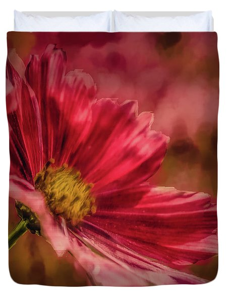 Aster Red Painterly #h1 Duvet Cover