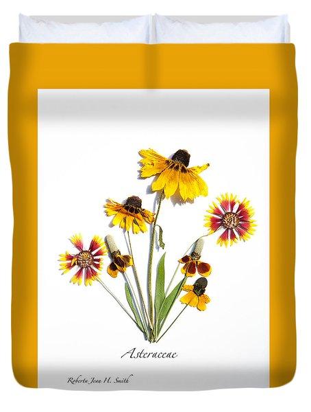 Asteraceae Duvet Cover