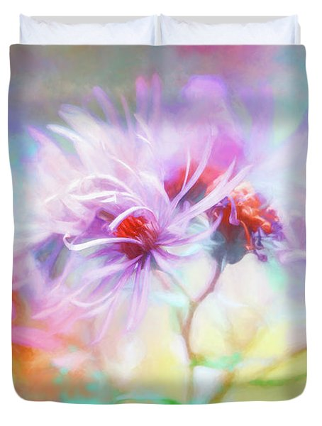 Asters Gone Wild Duvet Cover