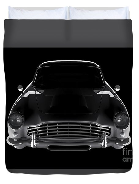 Aston Martin Db5 - Front View Duvet Cover