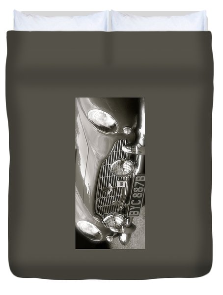 Aston Martin Db5 Smart Phone Case Duvet Cover by John Colley