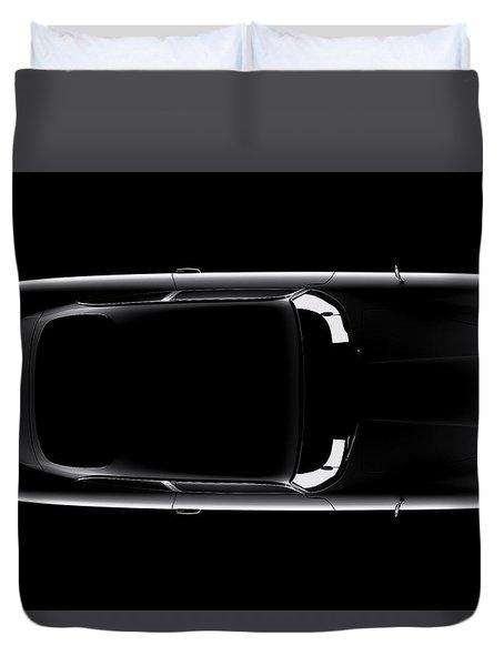 Aston Martin Db5 - Top View Duvet Cover