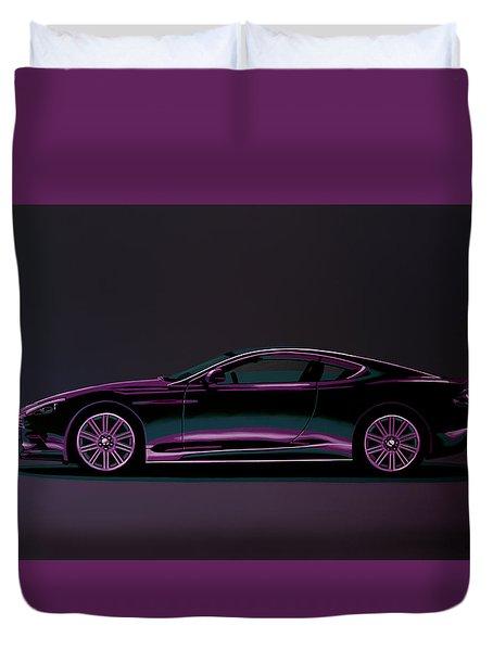 Aston Martin Dbs V12 2007 Painting Duvet Cover