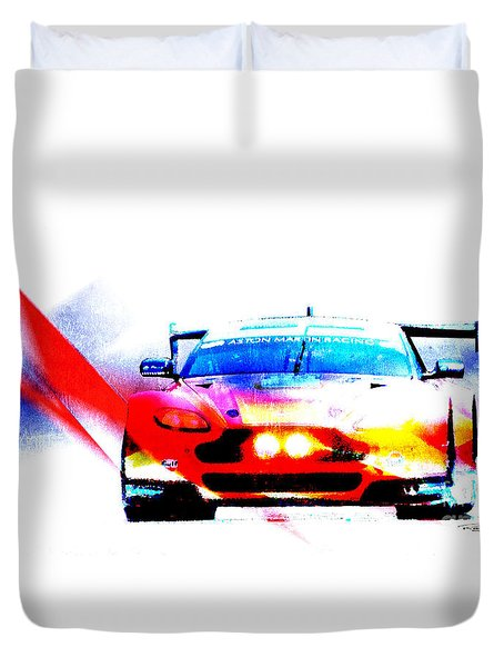 Aston Martin Racing V8 Aston Martin Vantage Gte Duvet Cover
