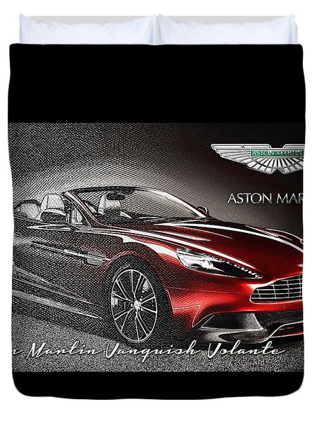 Aston Martin Vanquish Volante  Duvet Cover by Serge Averbukh