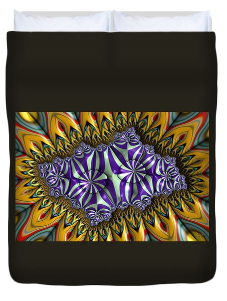 Astonishment - A Fractal Artifact Duvet Cover by Manny Lorenzo