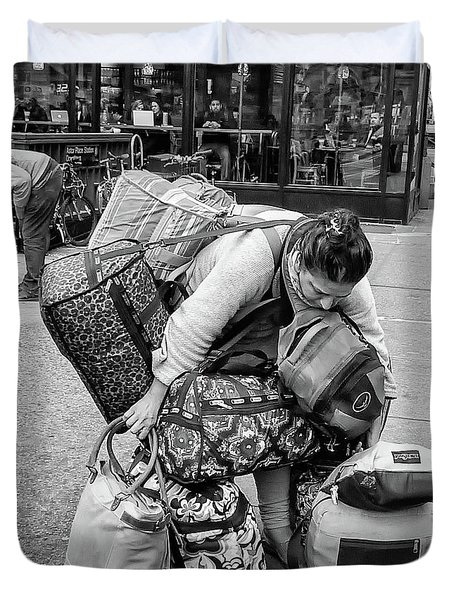 Bag Lady Duvet Cover