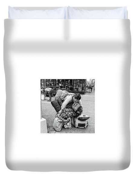 Bag Lady Duvet Cover