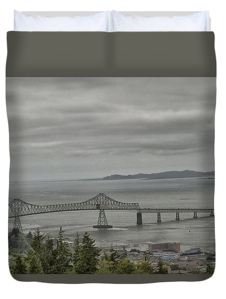 Duvet Cover featuring the photograph Astoria, Gateway To Oregon by Tom Kelly