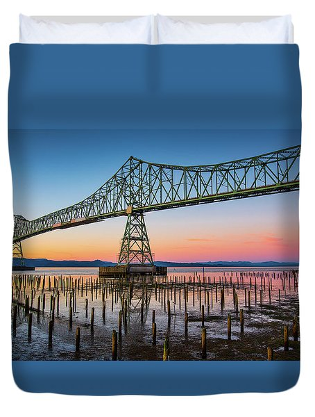 Astoria Megler Bridge Duvet Cover