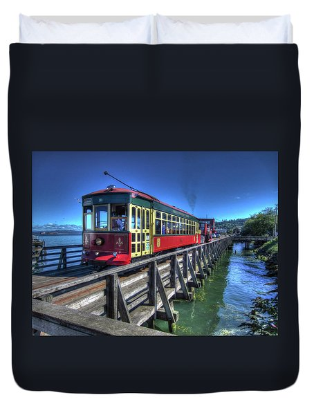 Astoria Riverfront Trolley Duvet Cover