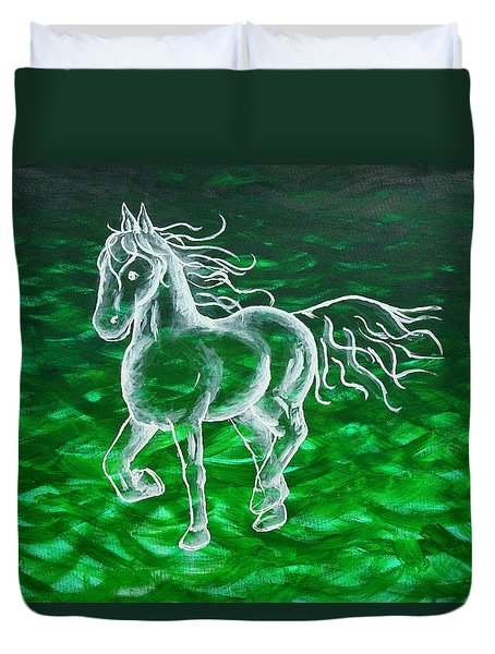 Astral Horse Duvet Cover
