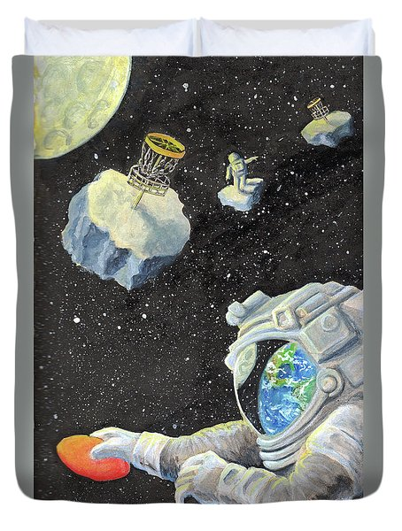 Astronaut Disc Golf Duvet Cover