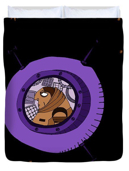 Astronaut In Deep Space Duvet Cover