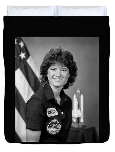 Astronaut Sally Ride  Duvet Cover