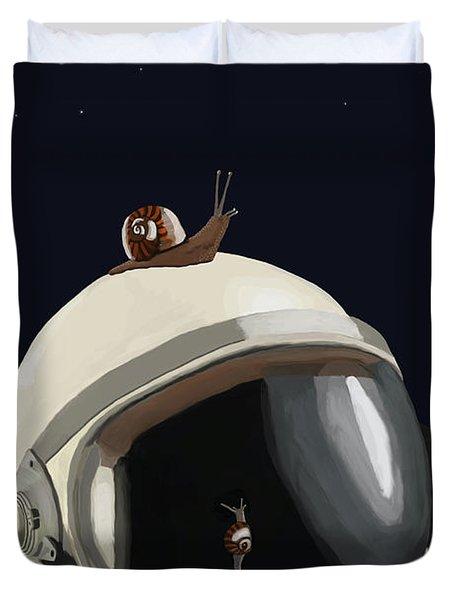 Astronaut's Helmet Duvet Cover by Keshava Shukla