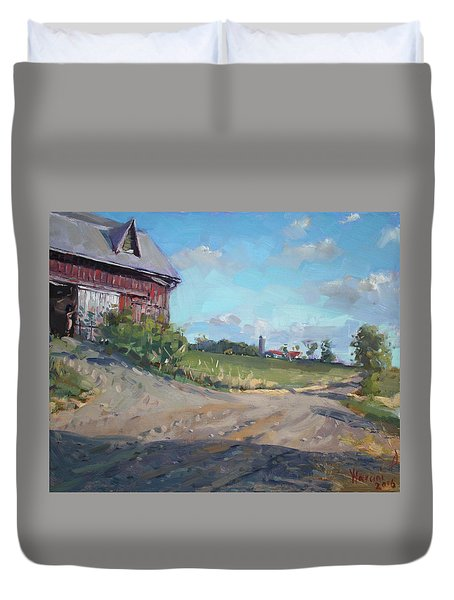 At Barn In Georgetown On Duvet Cover