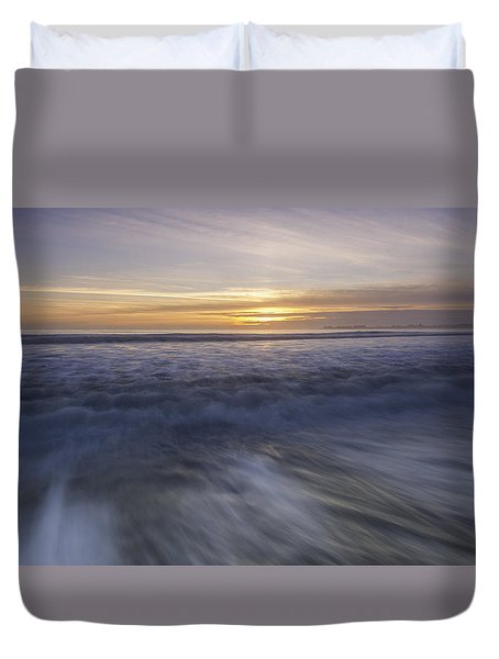 At Beach Duvet Cover by Catherine Lau