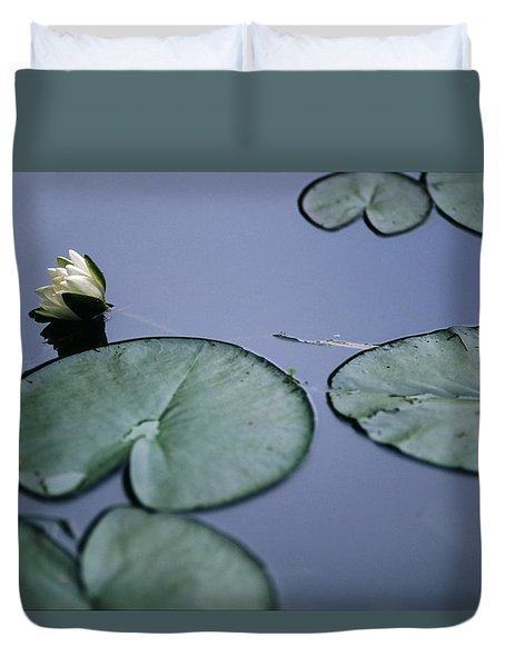 Duvet Cover featuring the photograph At Claude Monet's Water Garden 2 by Dubi Roman