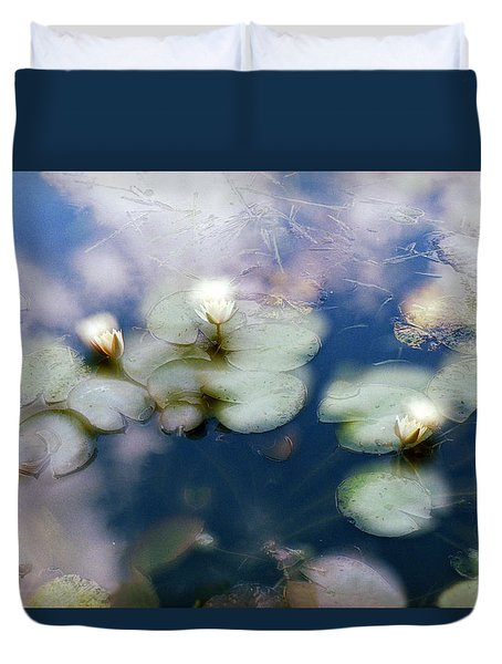 At Claude Monet's Water Garden 4 Duvet Cover