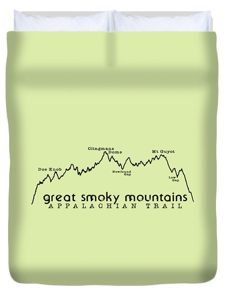 At Elevation Profile Gsm Duvet Cover by Heather Applegate